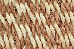 Hand Woven / Tied Rug Detail. Close up of Hand Woven / Tied Rug Detail, Patterned Sisal, Hemp Background Texture royalty free stock image
