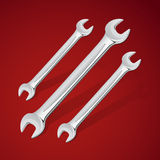 Hand wrench tools or spanners Royalty Free Stock Photography