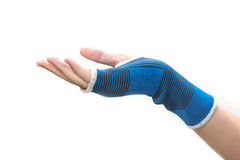 Hand with wrist support Royalty Free Stock Photography