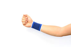 Hand with a wrist support Stock Images