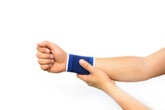 Hand with a wrist support Stock Photography