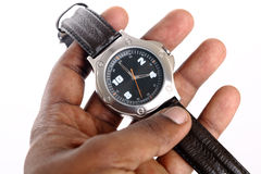 Hand with Wrist watch Royalty Free Stock Images