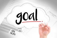 Hand write goal Stock Photo