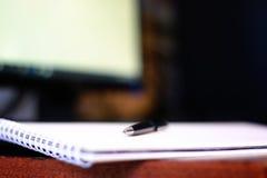 Hand write pen paper Stock Image
