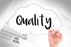 Hand write quality Royalty Free Stock Images