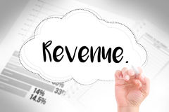 Hand write revenue Royalty Free Stock Photo