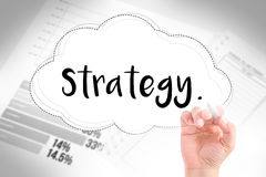 Hand write strategy Stock Image