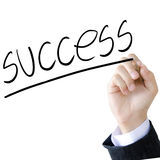 Hand write a success word.  Royalty Free Stock Photo