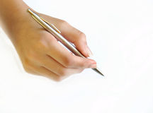 Hand writing Royalty Free Stock Photography