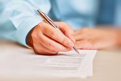 Hand writing Royalty Free Stock Photos