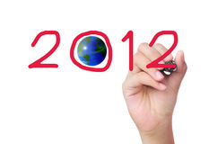 Hand writing 2012 Stock Image