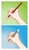hand writing Arkivfoton
