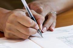 Hand Writing Royalty Free Stock Photos