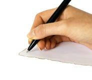 Hand writing Royalty Free Stock Image