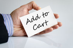 Hand writing Add to cart Stock Images