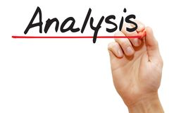 Hand writing Analysis, business concept Royalty Free Stock Photography