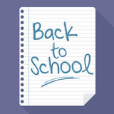 Hand Writing Back To School On a Paper Note Stock Photos