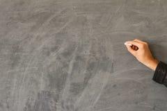 Hand writing on a blackboard Stock Photo