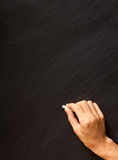 Hand writing on a blackboard Royalty Free Stock Image