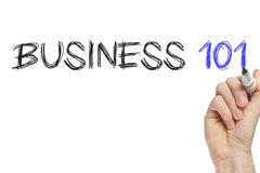 Hand writing business 101 Stock Photography