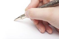 Hand Writing Concept Royalty Free Stock Photos