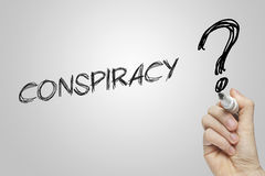 Free Hand Writing Conspiracy Royalty Free Stock Photography - 52158387