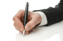 Hand writing on copy space Stock Photography