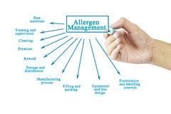 Hand writing element of Allergen Management for business concept. (Training and Presentation Royalty Free Stock Image