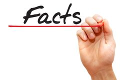 Hand writing Facts, business concept Stock Photo