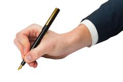 Hand writing with fountain pen Royalty Free Stock Image