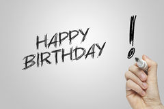 Hand writing happy birthday Royalty Free Stock Images
