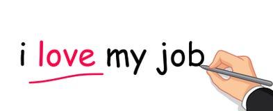 Hand writing i love my job Royalty Free Stock Photos