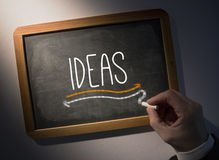 Hand writing Ideas on chalkboard Royalty Free Stock Images