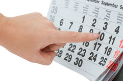 Hand writing important date Royalty Free Stock Photo