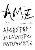 Hand writing ink font. Hand writing  grunge style ink font Stock Image