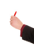 Hand with writing marker. Royalty Free Stock Images