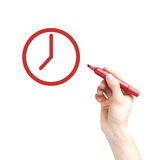 Hand writing with a marker Royalty Free Stock Image