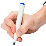 Hand writing with a marker Royalty Free Stock Images
