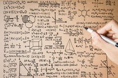 Hand writing math formula Stock Photos