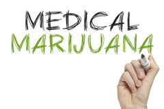 Hand writing medical marijuana Royalty Free Stock Photography