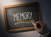 Hand writing Memory on chalkboard Royalty Free Stock Photo