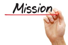 Hand writing Mission, business concept Royalty Free Stock Images