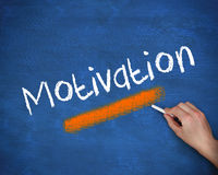 Hand writing motivation. With a chalk Royalty Free Stock Photos