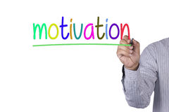 Hand writing Motivation with marker colorfull Royalty Free Stock Photo