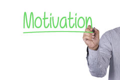 Hand writing Motivation with marker Stock Images
