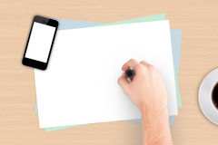 Hand Writing Note Paper Royalty Free Stock Image