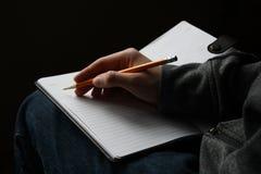 Hand-Writing Stock Photo