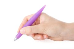 Hand writing with a pen Royalty Free Stock Image