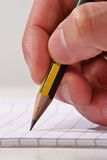 Hand writing. Royalty Free Stock Image
