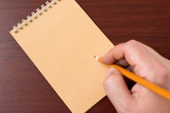 Hand writing pencil Royalty Free Stock Images
